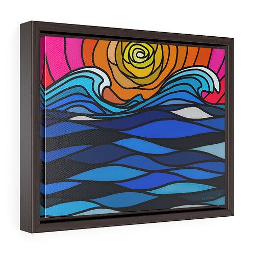 Sunset- Horizontal Framed Premium Gallery Wrap Canvas