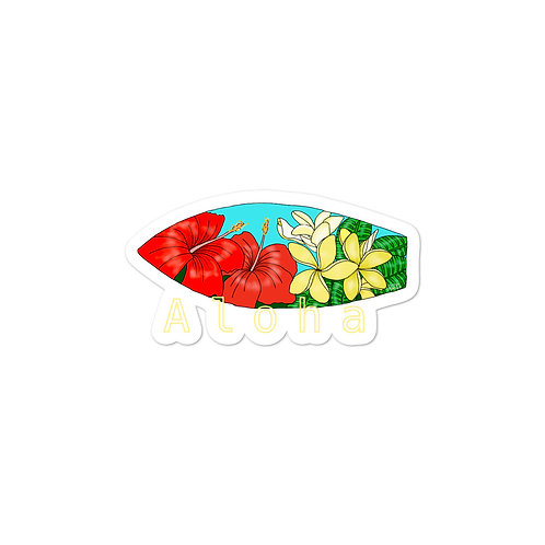 Hibiscus and Plumerias Board Art- Bubble-free stickers