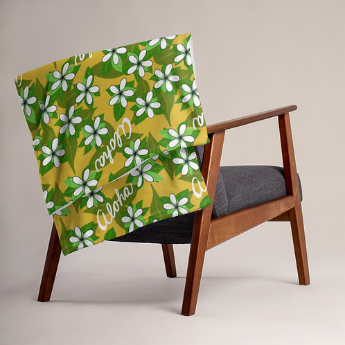 Aloha Tiare- Throw Blanket