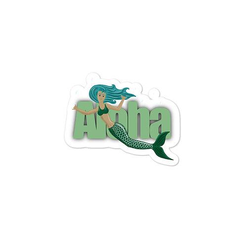 Mermaid Shaka- Bubble-free stickers