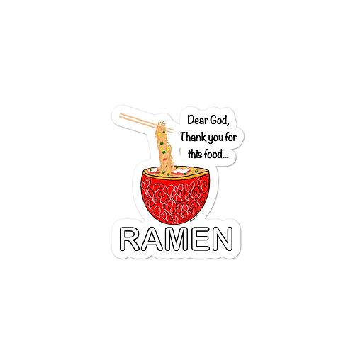 Amen for Ramen- Bubble-free stickers