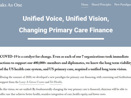 Vision to rewire primary care financing