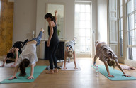 yoga class at home