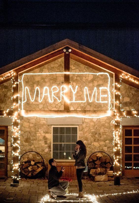Proposta matrimonio luci casa