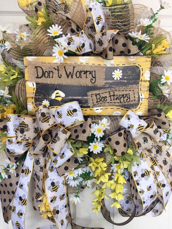 Matrimonio dolci come il miele: fiocchi in tessuto