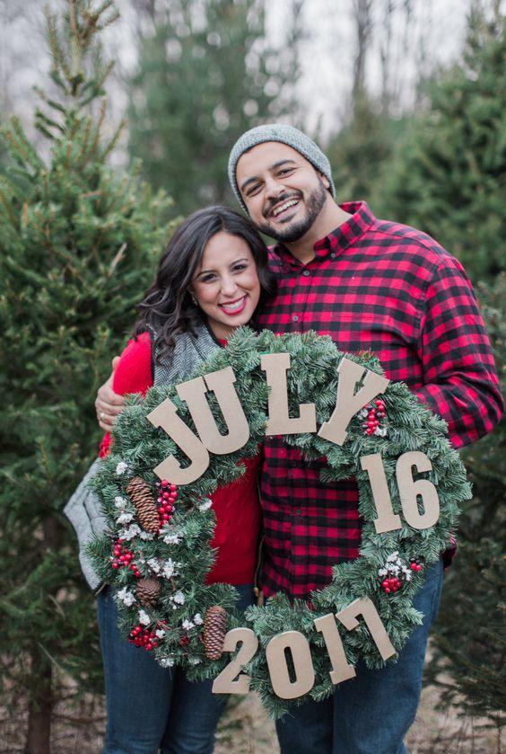 10 Idee regalo di Natale per la sposa: Photo per Save the Date