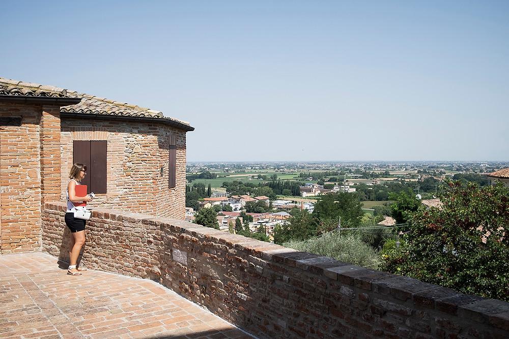Camminamento estero del Castello di Santarcangelo