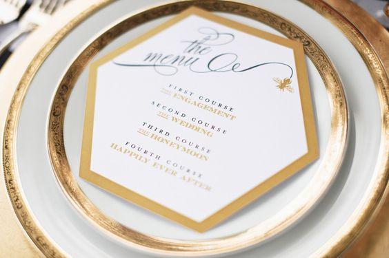 Matrimonio dolci come il miele: menu matrimonio esagonale