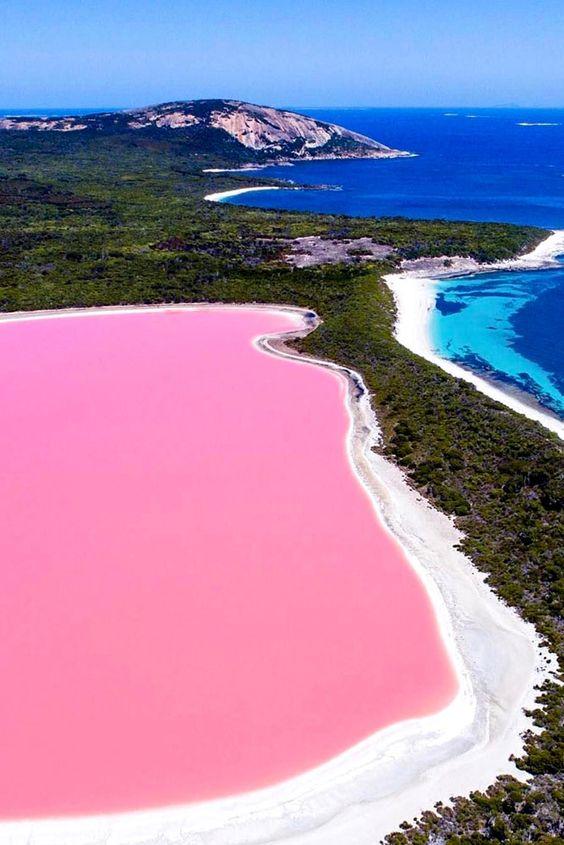 Consigli per la luna di miele perfetta: Lake Hillier, Middle Island, Esperance, Western Australia