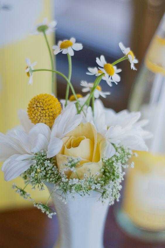 Matrimonio dolci come il miele: decorazioni con craspedia