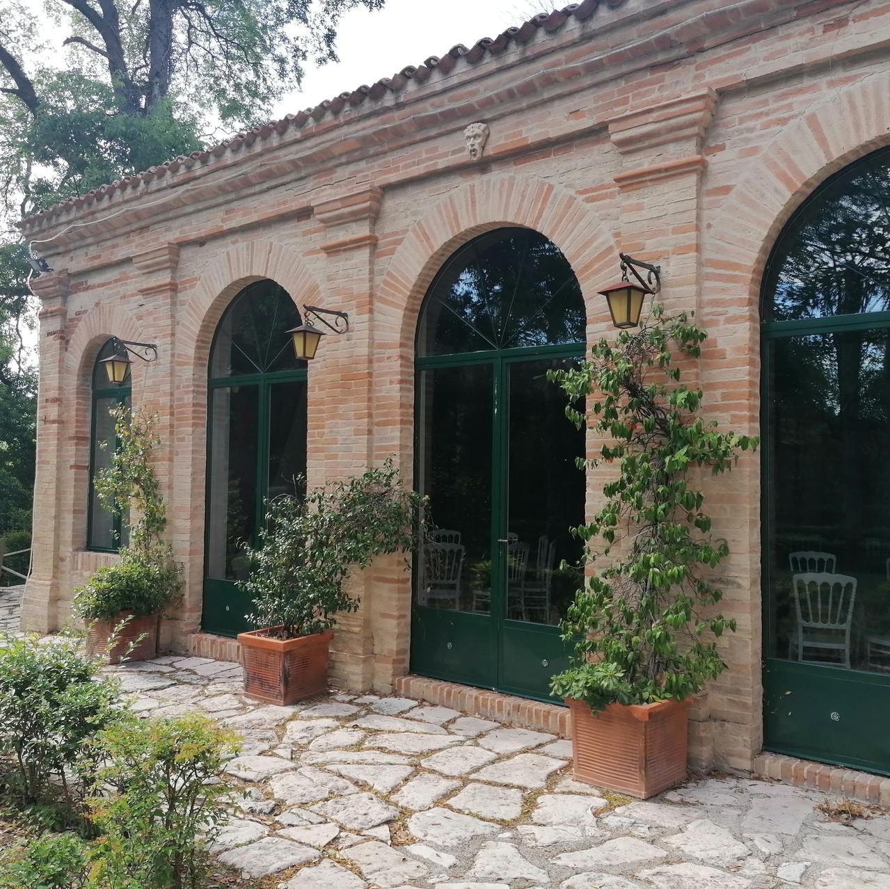 Palazzo Viviani a Montegridolfo agrumaia