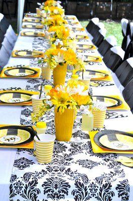 Matrimonio dolci come il miele: vasi e sottopiatti gialli