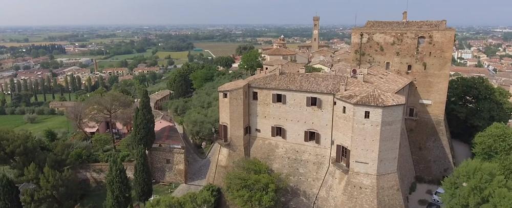Veduta dall'alto del Castello di Santarcangelo di Romagna