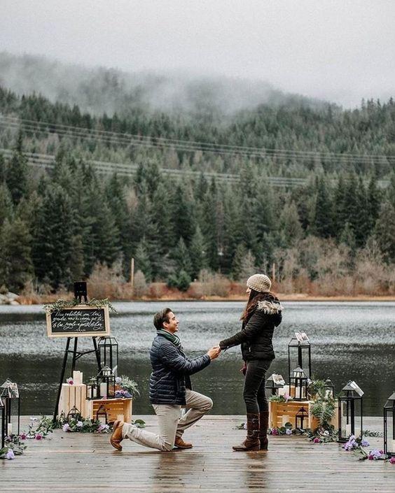 Proposta matrimonio al lago