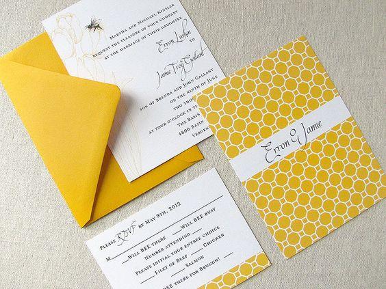 Matrimonio dolce come il miele: Partecipazioni con arnia