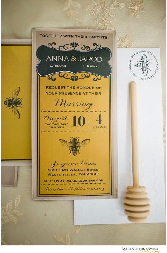 Matrimonio dolci come il miele: partecipazioni