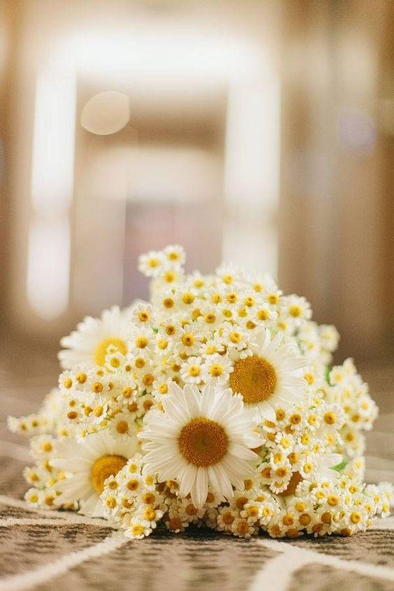 Matrimonio dolci come il miele: bouquet margherite