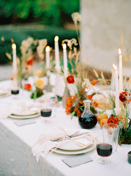 Micro Wedding dettaglio tavolo imbandito