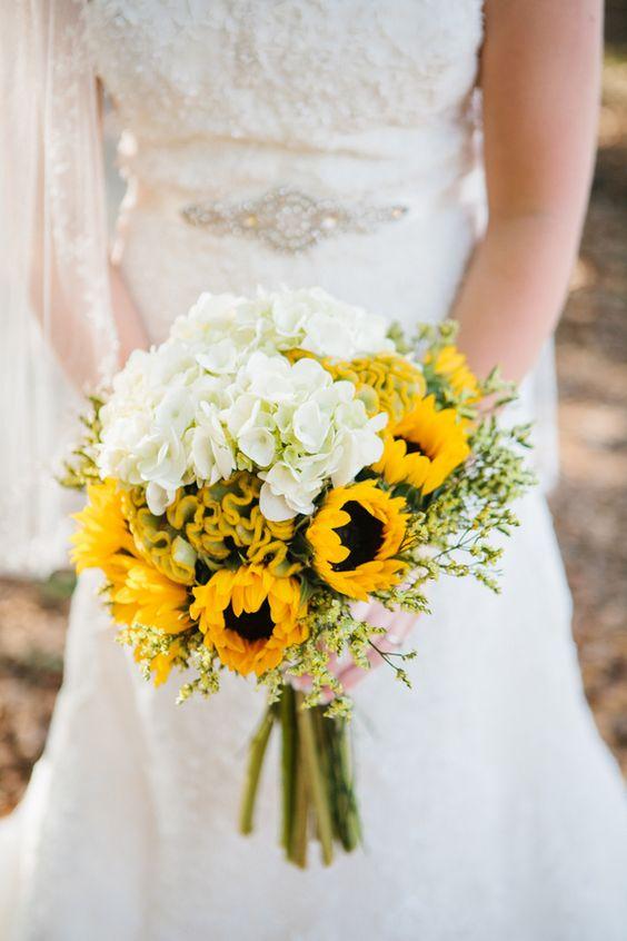 Matrimonio dolci come il miele: bouquet girasoli