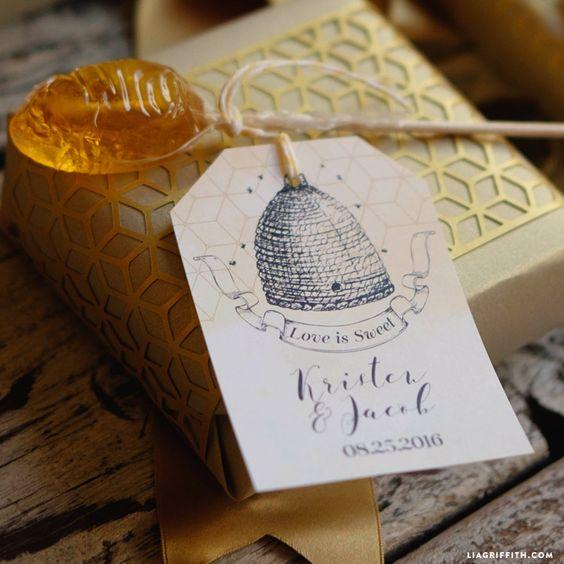 Matrimonio dolci come il miele: lecca lecca al miele