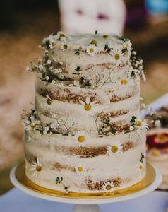 Matrimonio a tema margherite: naked cake con margherita
