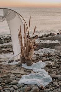Matrimonio in spiaggia nelle Marche, alla Baia Vallugola