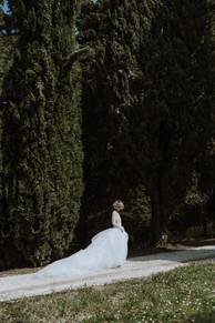 Mondaino, Wedding Styled Shoot: la sposa indossa vestito di Vera Wang