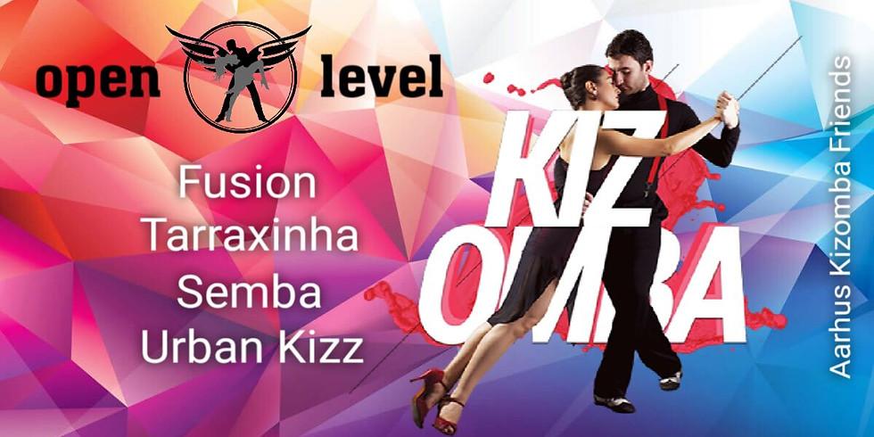 Tir 19.00-20.00 Kizomba Drop-in open level (tilmeldes single og par)