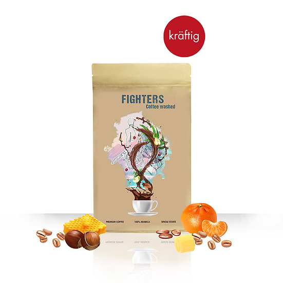 Fighters Coffee Washed, 70g, ganze Bohne