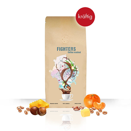 Fighters Coffee Washed, 250g, ganze Bohne
