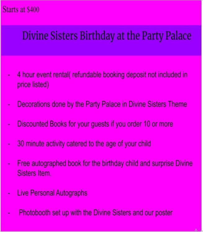 Divine Sisters Birthday Party