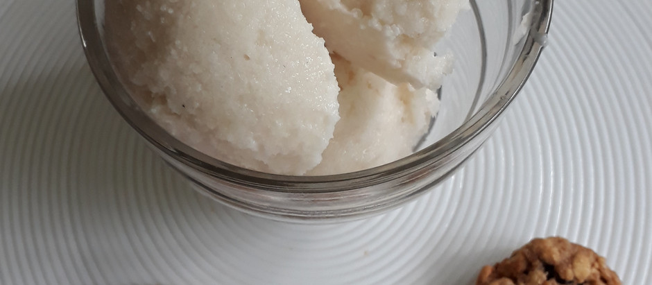 Sorvete Cremoso de Coco Vegano