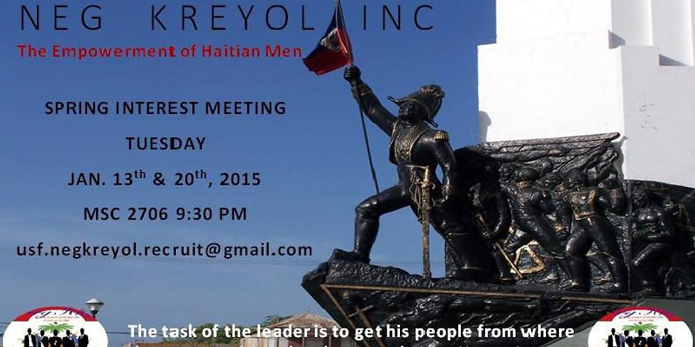 Spring Interest Meeting