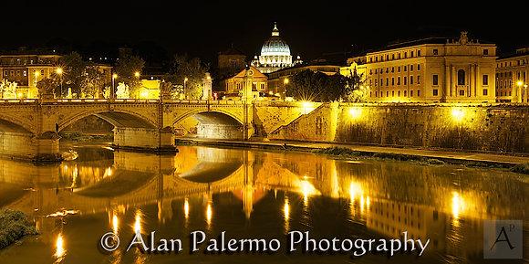 The Tiber and Saint Peters Basilica