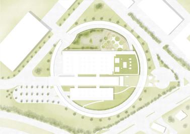 Parc de la manufacture Piaget à Genève