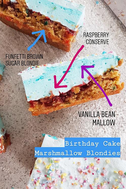 Birthday Cake Marshmallow Blondies (2 pcs)