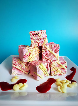 Raspberry & White Chocolate Gourmet Marshmallows