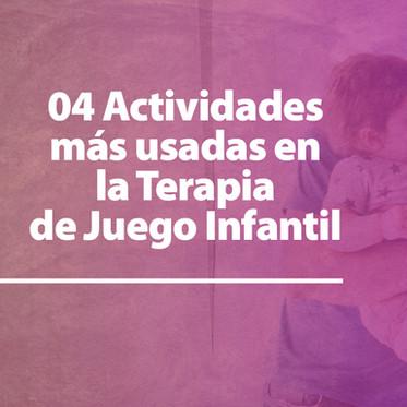 Te presentamos 04 actividades más usadas en la Terapia de Juego Infantil