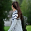 Thumbnail: Lang genser med mønster