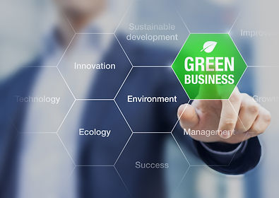 Presentation of green business concept f