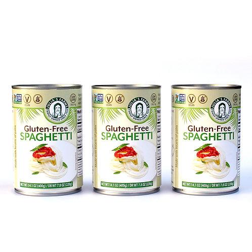 3 Julia's Farms Gluten-Free Spaghetti Cans