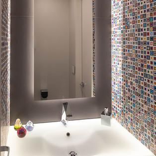 Guest Bathroom Backlit Mirror