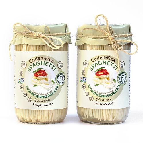 2 Julia's Farms Gluten-Free Spaghetti Reusable Glass Jars