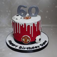 Football Themed Drip Cake