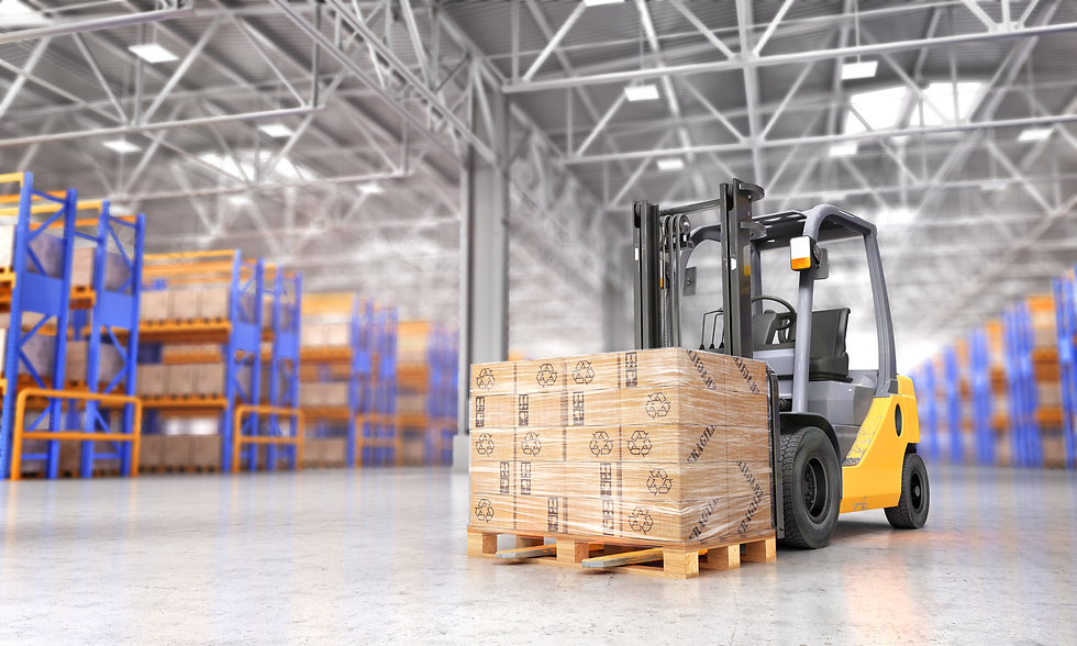 forklift in a warehouse moving boxes.jpg