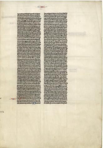 French Manuscript Bible - 1230