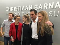 Christiaan Barnards son and his family at the opening of the hybrid room in Groote Schuur hospital.