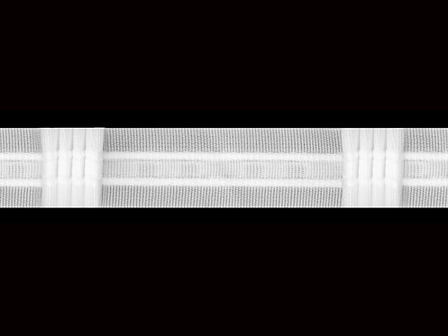 3026 - 4 Pleats Curtain Tapes / White