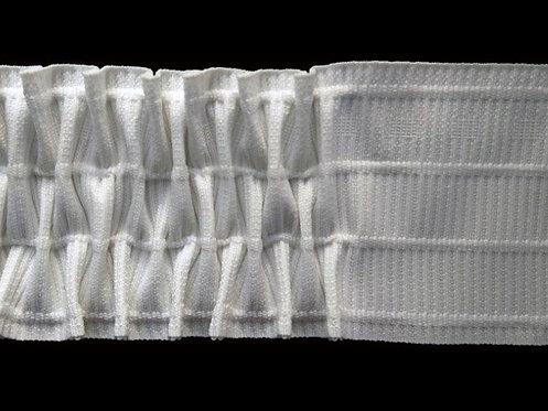 3843 Petek Pile Büzgü Şeridi /Beyaz