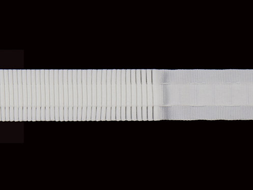 2853 Continuous Pleats Curtain Tapes / White